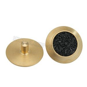 TGSI-B002 Brass tactile studs / tactile studs with black carborundum inserts / inners