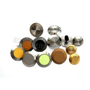 TGSI-011 Stainless steel tactile studs / warning studs / tactile indicators with self-adhesive tape